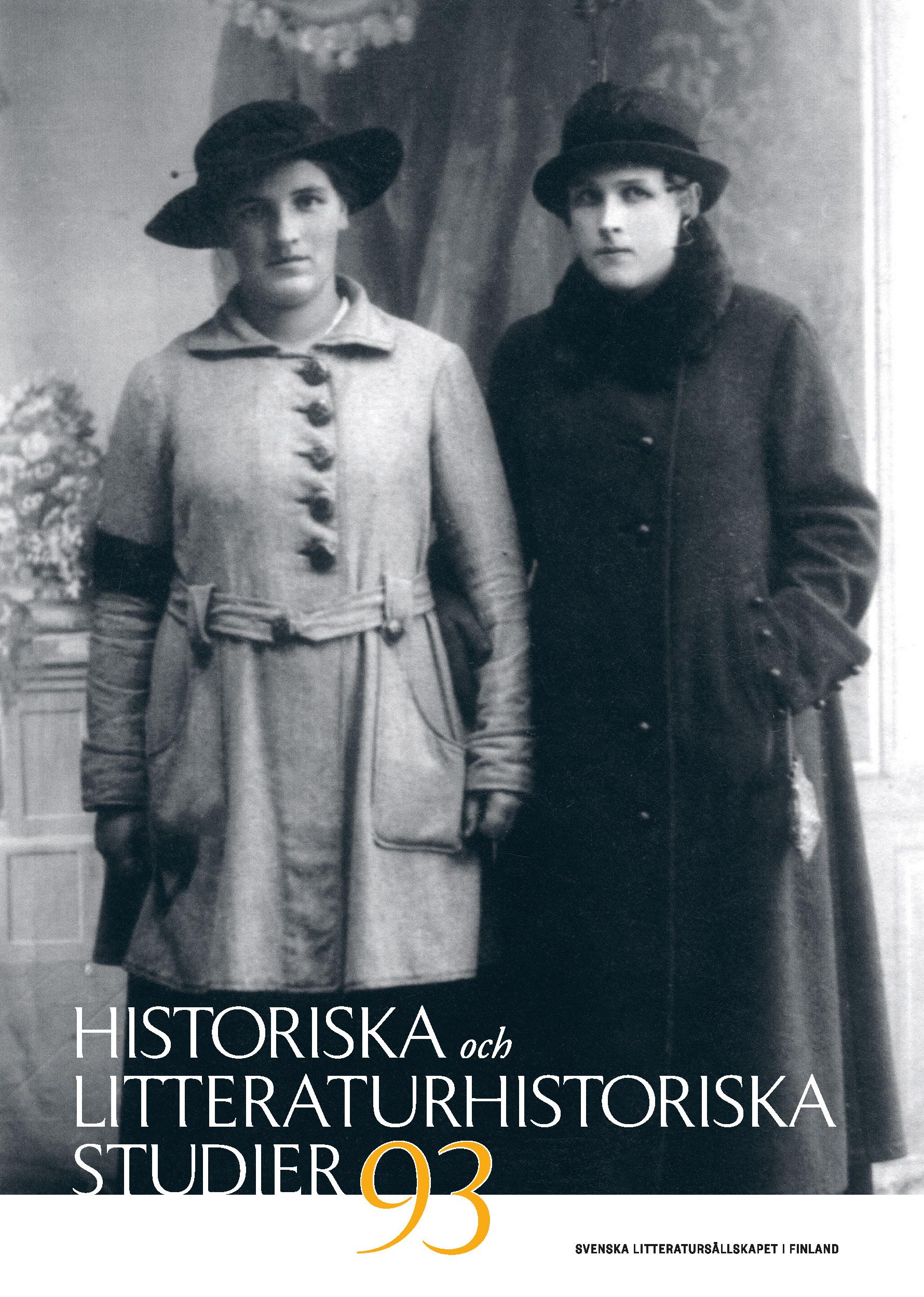 Omslag till Historiska och litteraturhistoriska studier 93.