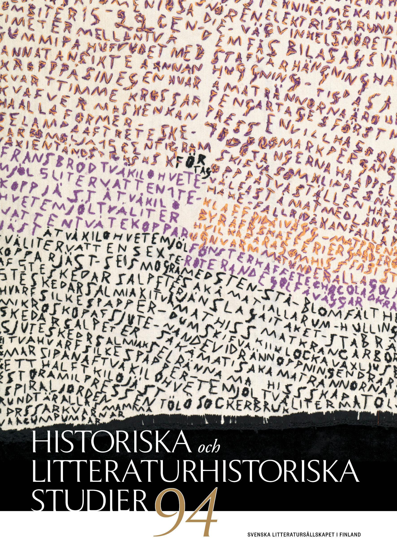 omslag till Historiska och litteraturhistoriska studier 94